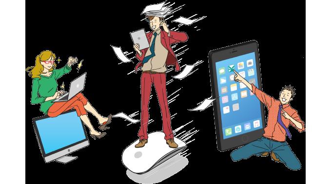 業務ソリューション事業・オリジナルソフト開発事業・モバイルソリューション事業イメージ